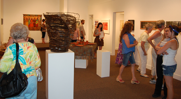 This was the scene at the opening of Belonging on Friday, July 3. David F. Rooney photo