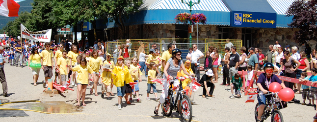 Kids, whether they were on foot, on bikes or in vehicles, dominated this year's Canada Day parade. David F. Rooney photo