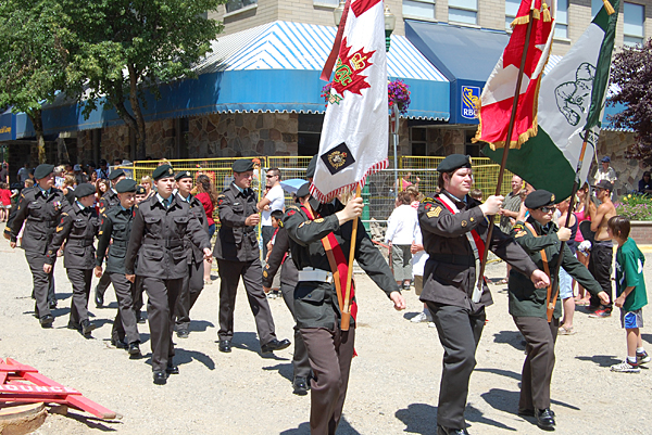 Local Army Cadets proudly marched in unison along the parade route. David F. Rooney photo
