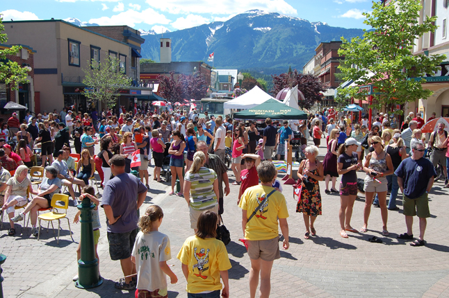 A very large crowd turned out for the parade and the annual Canada Day party that followed at Grizzly Plaza. David F. Rooney photo