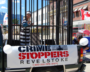 The Crime Stoppers float was something of a parable on the consequences of a life gone wrong. David F. Rooney photo