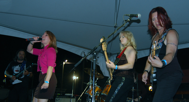 Blind Spot put on an excellent rock concert on Friday. David F. Rooney photo
