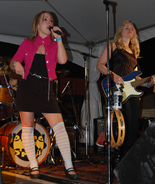 Vocalist Kaylee Knecht strikes a provocative pose. David F. Rooney photo