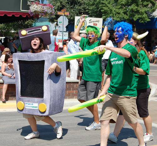 These young actors from BC Hydro's Power Smart  amused the crowd along the parade route. David F. Rooney photo