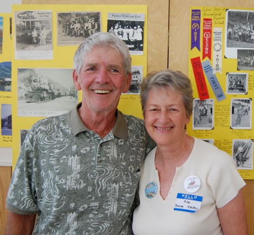 Jim Floyd poses with Ada Domke Jarvis at the South Country Reunion that was held at St. Peter's Anglican Church. David F. Rooney photo