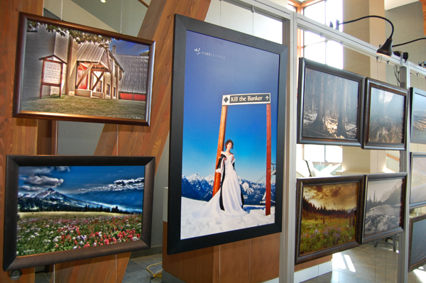 Local photographer Jason Keerak had a number of his very distinctive photos on exhibt in the lobby of Nelsen Lodge. David F. Rooney