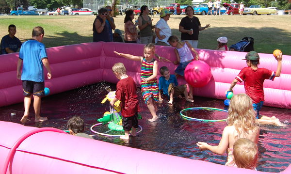 Ahhh! A pool, some balls and foamie things and kids will always have fun as they did during the Picnic in the Park. David F. Rooney photo