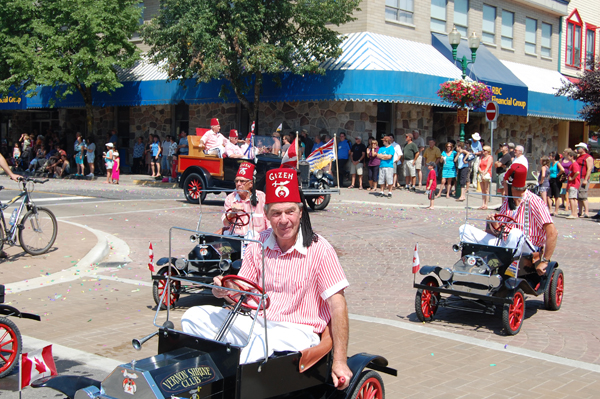 You just CAN'T have a parade without the Shriners' minicars. David F. Rooney photo