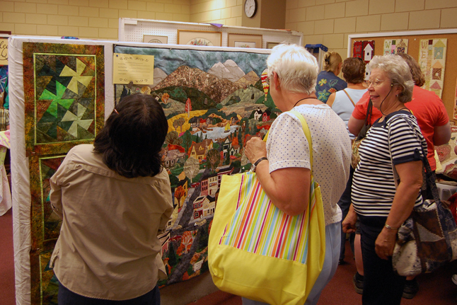 The 2009 Homecoming exhibition of quilts by the Quilters' Guild was easily one of the most popular events on Friday. David F. Rooney photo
