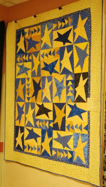 These slightly off-kilter stars made for a visually interesting quilt. David F. Rooney photo
