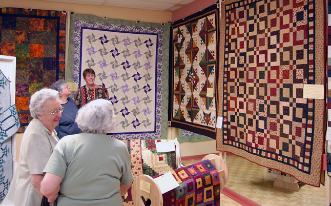 Traditional geometric quilts are still a favourite motif for many local quilters. David F. Rooney photo