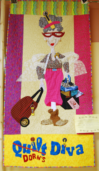 The Quilt Diva by Sheila Crowe was an amusingly whimsical take on the artists who produced this stunning show. David F. Rooney photo