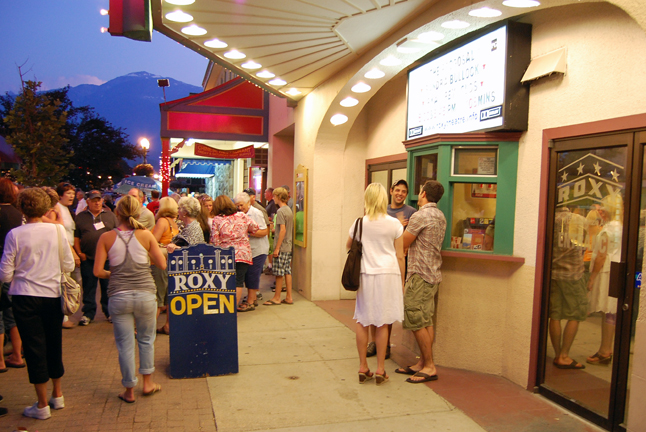 The Roxy Theatre was one of many businesses that stayed open during Friday's night's fantastic party at grizzly Plaza, which was hosted by the Revelstoke Credit Union. David F. Rooney