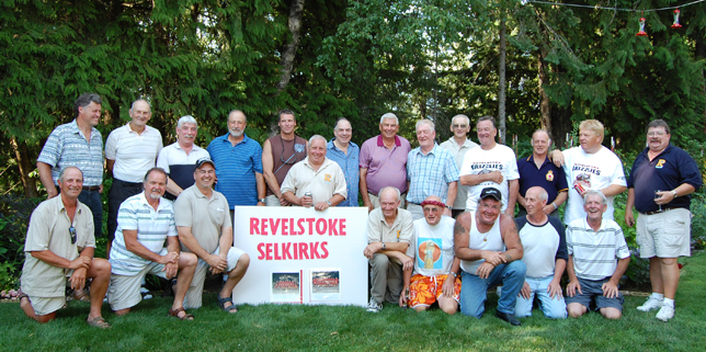 Members of the Revelstoke Selkirks gathered at Jim and Phyllis Floyd's Columbia Park home for a reunion during Homecoming. David F. Rooney photo