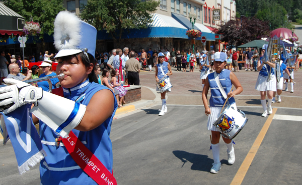 This marching band from Vernon played — and marched — with precision during the parade. David F. Rooney photo