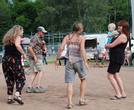 Nuna-Y's great Andean sound from Bolivia got people dancing on Saturday afternoon at the 2009 Music Festival. David F. Rooney photo
