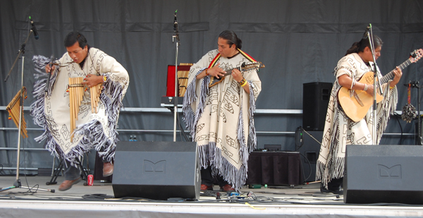 Not only was Nuna-Y's South American music appreciated by the audience their act featured some leaping about. David F. Rooney photo