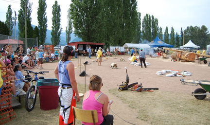 About 400 people turned out to watch the two-day Timber Days festival last weekend. David F. Rooney photo