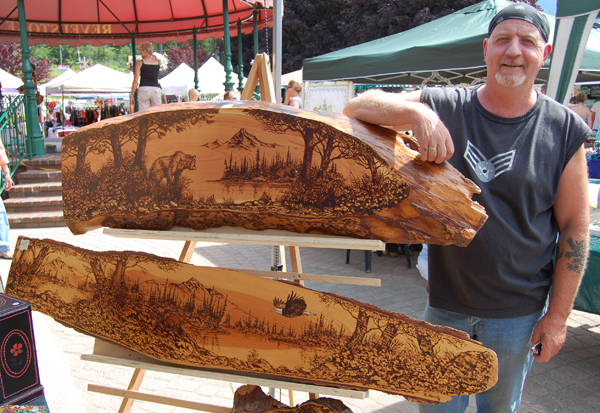 Brian Morris is the man behind many a unique piece of woodburned or glass etched artwork. He's also a pretty talented watercolourist. Brian can be reached at 250-837-7195. David F. Rooney photo