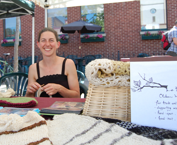 Claire Sieber is crocheting her way to creating a collective for Chilean women. She sells her own work as well as handmade textiles by rural women from Chile and BC. you can reach Claire at ramita.sprig@gmail.com. David F. Rooney photo