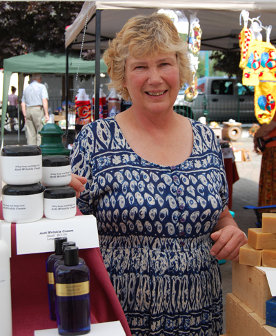 Looking for something with which to pamper your body? Ellen Tremblay of Silky Soap and Body Care undoubtedly has what you need. You can reach her, when she's not at the market, at 250-814-0268 or by e-mail at silkysoap@gmail.com. David F. Rooney