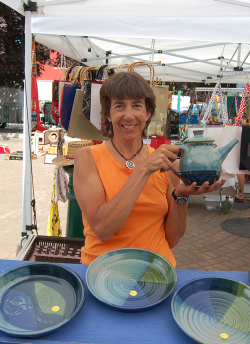 Nancy Geismar is an award-winning potter who lives and works in Revelstoke. Her original designs are a hot item. When owner of EarthenFire Art is not at the market she can be reached by phone at 250-837-3211 or by e-mail at ngeismar@telus.net. David F. Rooney photo