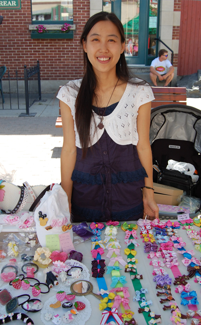 Sharie Ko of Sharie's Handmade Accessories offers bright and pretty items to a largely feminine crowd. She can be reached at 250-837-9541 or by e-mail at purekkh@hotmail.com. David F. Rooney photo