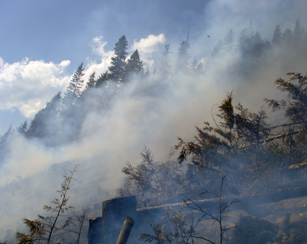 Yet another scene of smoke and flame at French Creek. Photo courtesy of Ben Parsons