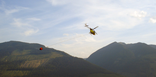 Helicopters play a key role in fighting forest fires in our mountainous terrain. Photo courtesy of Ben Parsons