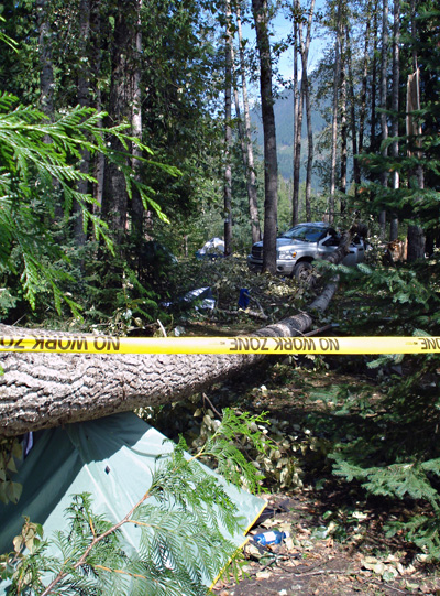 This is another shot of the Eagle River Campground. Note the position of that tree. Photo courtesy of Ben Parsons