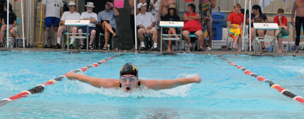 Nadia Salon demonstrates the power that makes her one of the most formidable swimmers in the province. Photo courtesy of Karyn Molder