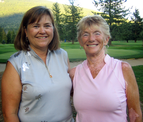 The 2009 Ladies Club Champions, Heather Dutchman and Sharon Tippe, pose for a photo after their weekend victories. Photo courtesy of Nel Lord