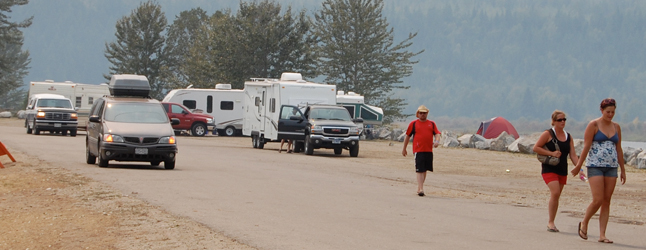 Campers start heading out as the tournament started winding down on Monday. David F. Rooney photo