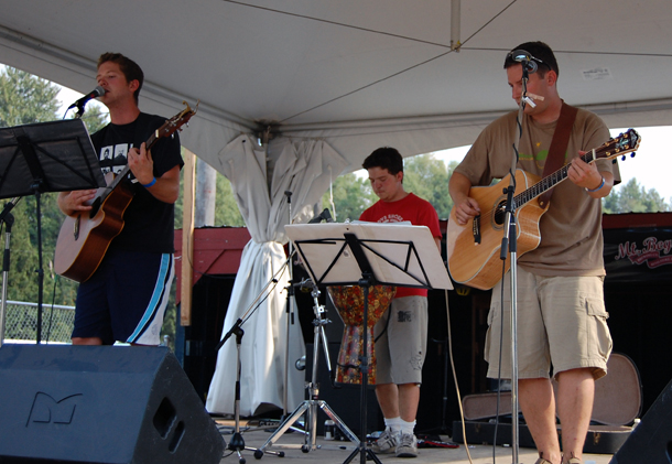 Local band Alan Laidlaw and Company livened up the late afternoon at Centennial Park on Saturday. David F. Rooney photo