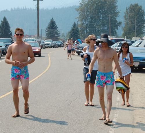 These trunks certainly stood out in the crowd. David F. Rooney photo