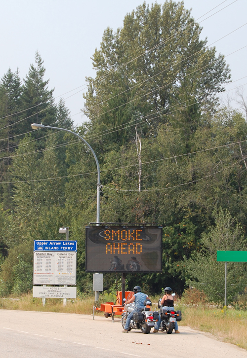 This sign on Highway 23S near Begbie Road says it all. David F. Rooney photo