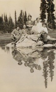 Discovered in 1910 Eva Lake has long been a favourite destination for local hikers. Photo courtesy of the Revelstoke Museum & Archives