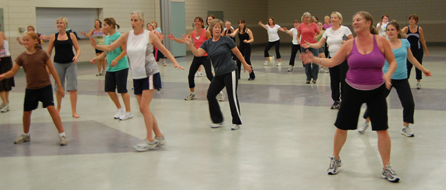 Zumba! It's an odd-sounding name but it definitely captures the imagination — and the body. David F. Rooney photo