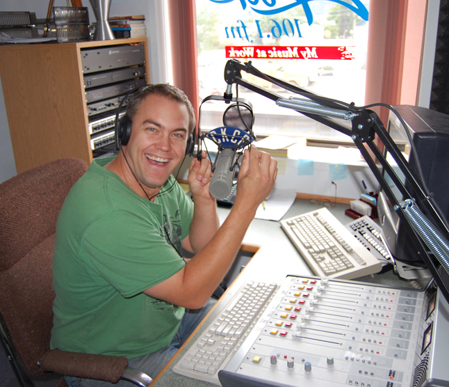 DJ Steve Smith is Revelstoke's local voice on the radio waves with CKCR, which is now broadcasting at 106.1 FM. David F. Rooney photo