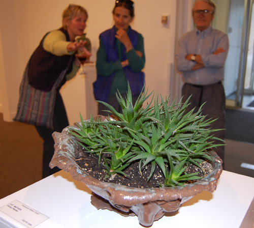 This planter by Cat Mather greeted everyone who entered the show, which is on display at the Visual Arts Centre until Sept. 25. David F. Rooney photo