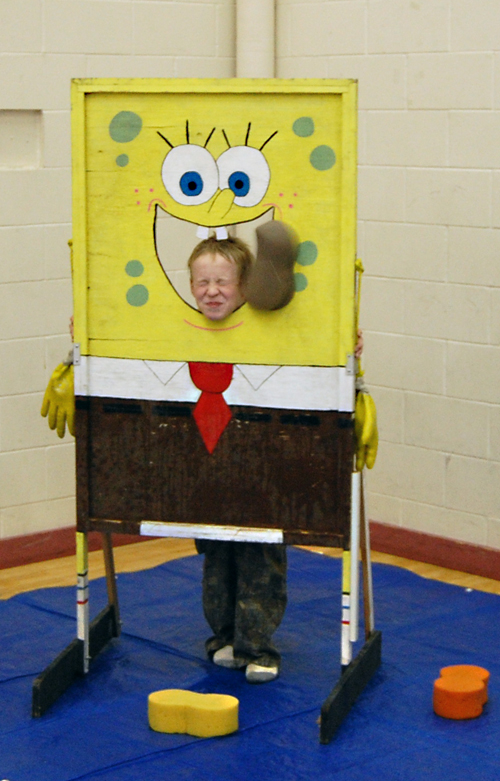 Alex Tilden was a terrific sport with a great grimace at the Mount Begbie Fall Fun Fair on Friday. David F. Rooney photo