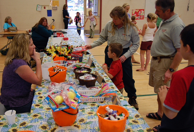 Kids and parents peruse some of the things on offer at the Fall Fun Fair. David F. Rooney photo