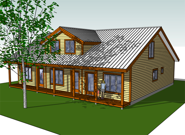 This is an artist's conception of a triplex that could be built at the Revelstoke Housing Society's Bridge Creek Properties... if and when it gets off the ground. Illustration courtesy of the Revelstoke Housing Society