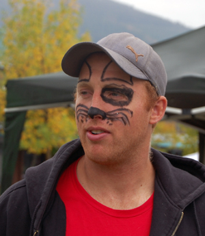 All kinds of people, including dog facier Matt Robinson, had their faces painted during the New Moon Over Mackenzie festival. David F. Rooney photo