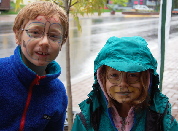 There were painted faces everywhere on Mackenzie on Saturday. These ones belonged to Erik and Rebecca Brosch. David F. Rooney photo