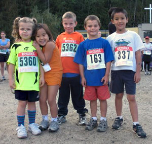 These youngsters were avid runners during the Community Run on Saturday. Photo courtesy of Sarah Newton