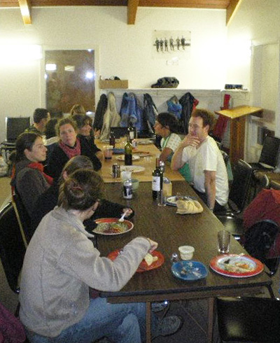 Members of Revelstoke Francophone and Francophile community enjoyed a potluck supper at the chalet on Mount Revelstoke recently. They enjoyed the event so much they plan another for December. Photo courtesy of Sarra Dupuis
