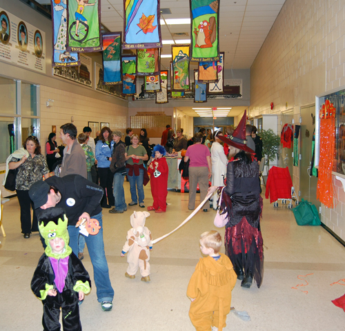 There were lots of creatures big and small milling about at the Community Centre's Halloween Party on Monday. David F. Rooney photo