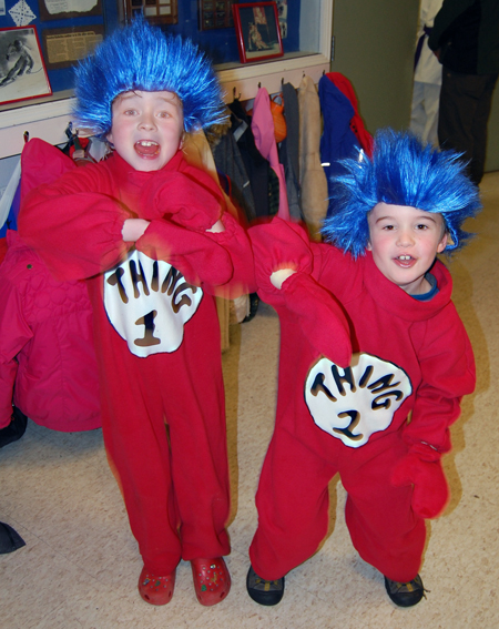 Not so, Thing 1 and Thing 2, AKA Colin and Caine Molder. They had plenty of energy after getting their fill of Halloween fun. David F. Rooney photo