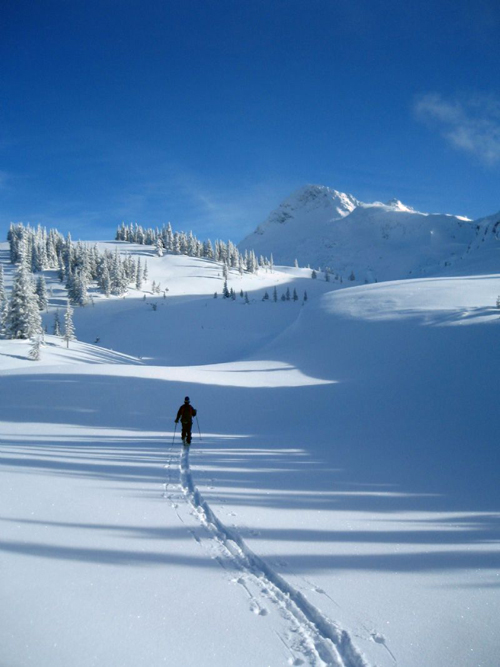 Ski touring near Mt. McCrae by Freya Rasmussen is one of the 10 finalists in the CBT's photo contest. Image courtesy of the Columbia Basin Trust